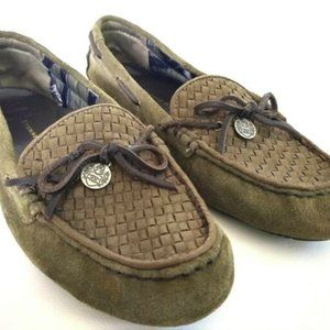 Etienne Aigner Moss Suede Loafers